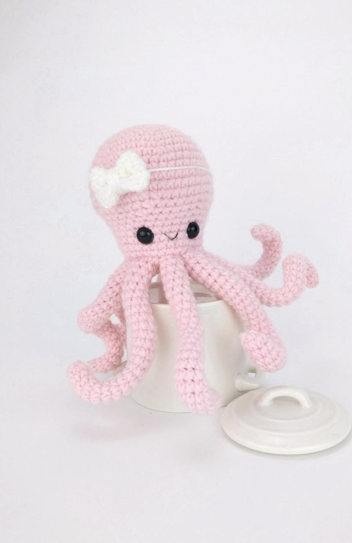 Female crochet octopus
