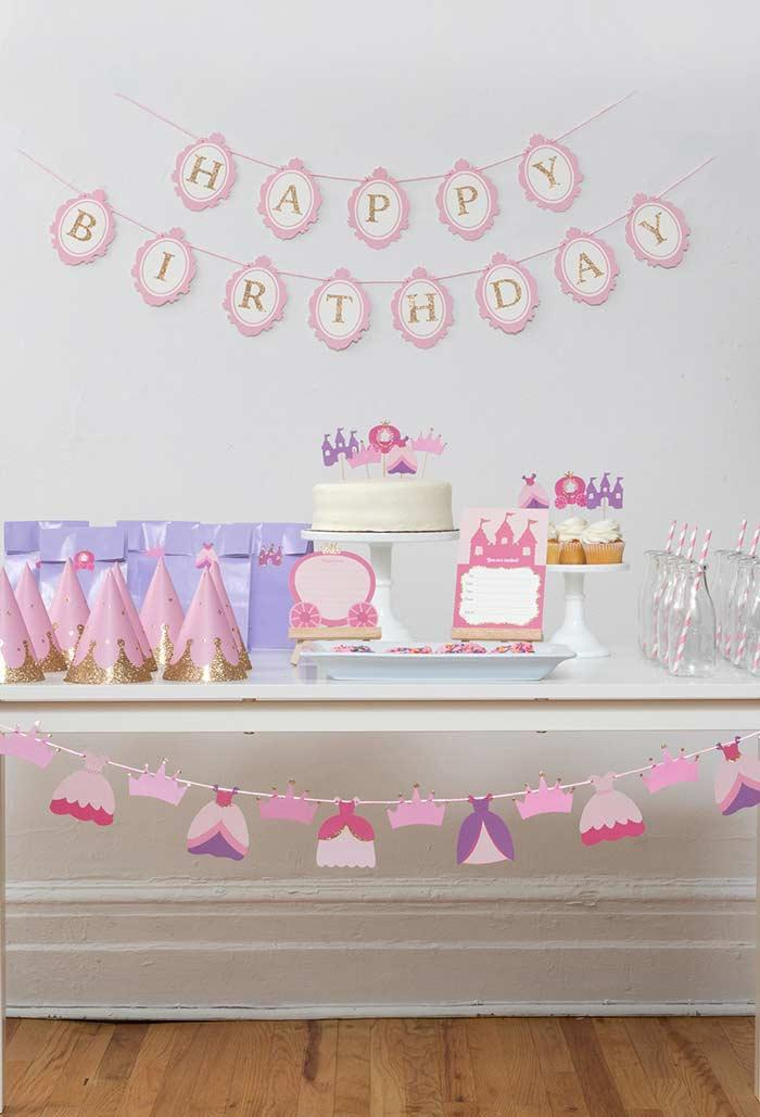 Simple and cheap Princess party