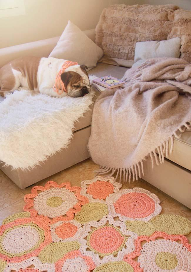 round crochet rug for living room