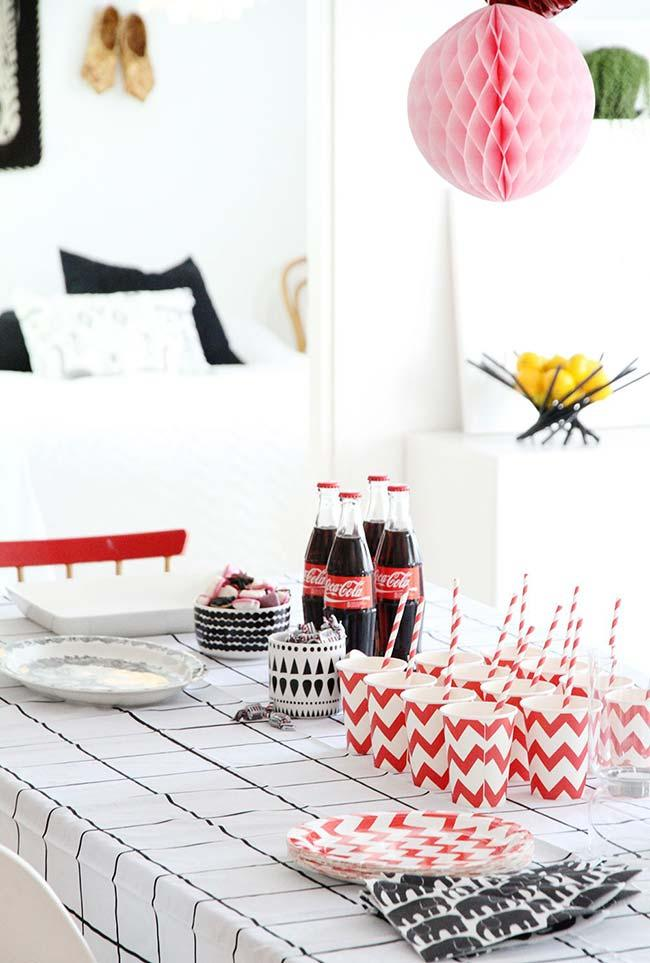 Simple children's party in the room