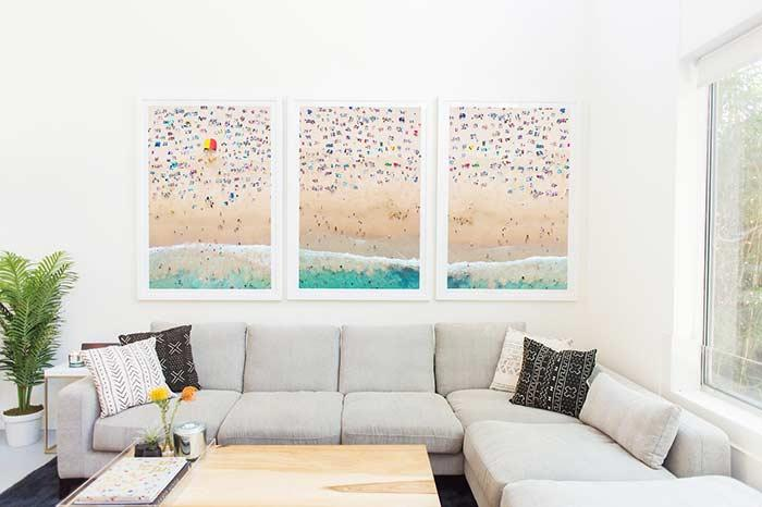divide into a triptych panel to stretch the reach in your décor