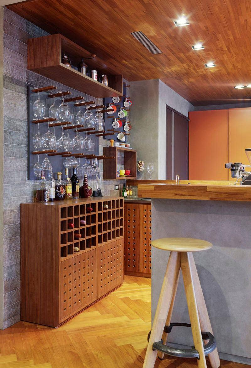 Wall bar: 60 awesome designs, designs and photos 3