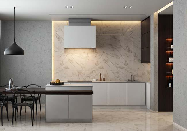 Marbled wall tiles