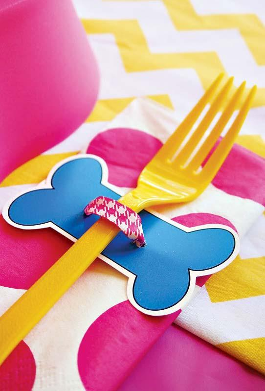 Decorative cutlery ring for party Patrol Canine