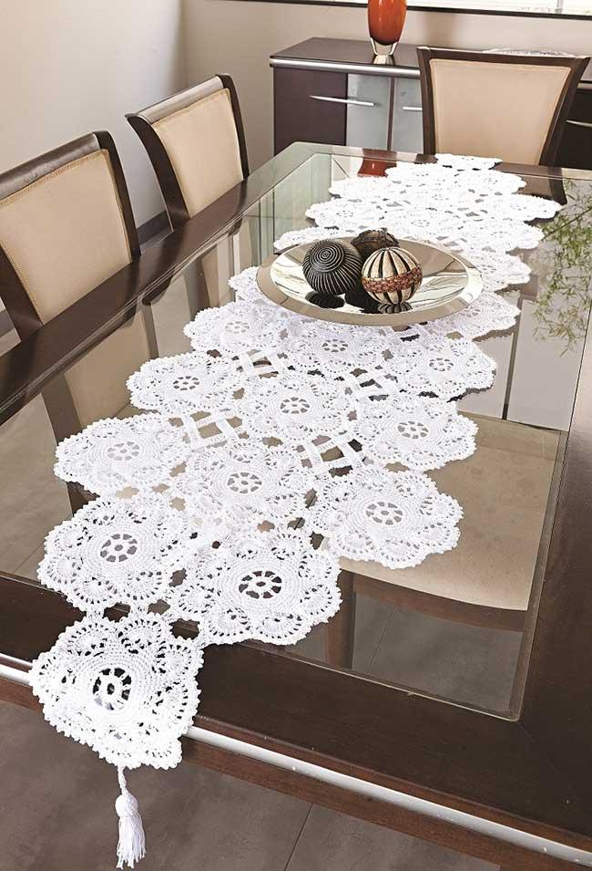 A beautiful work from crochet table to dining room