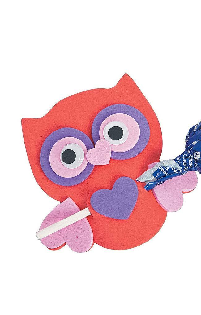 EVA Owl with Heart-shaped Nose and Paws