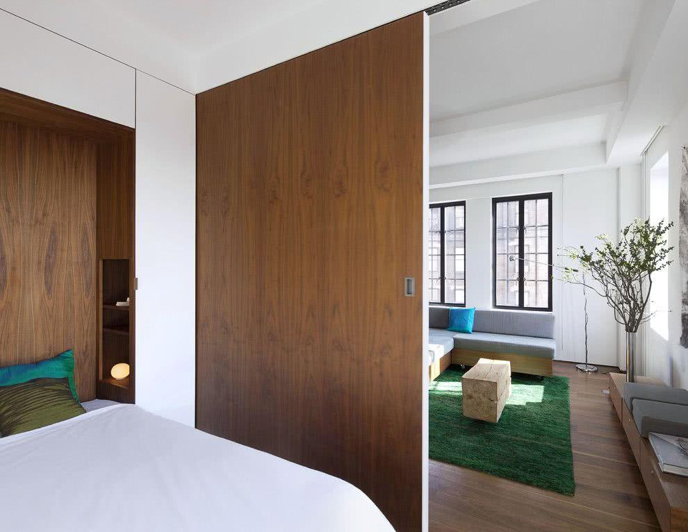 Sliding door: advantages of using and projects with photos 3