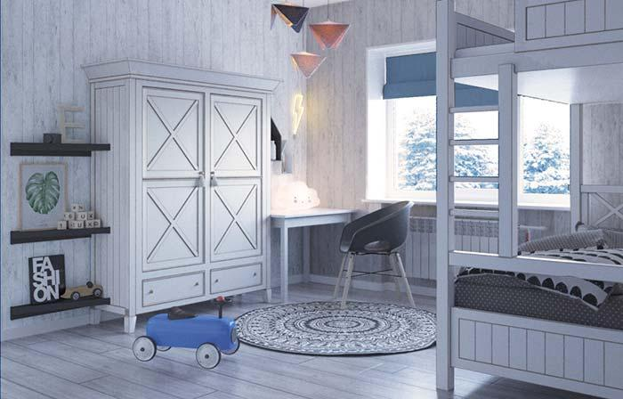 Children's room combines very well with provencal decor