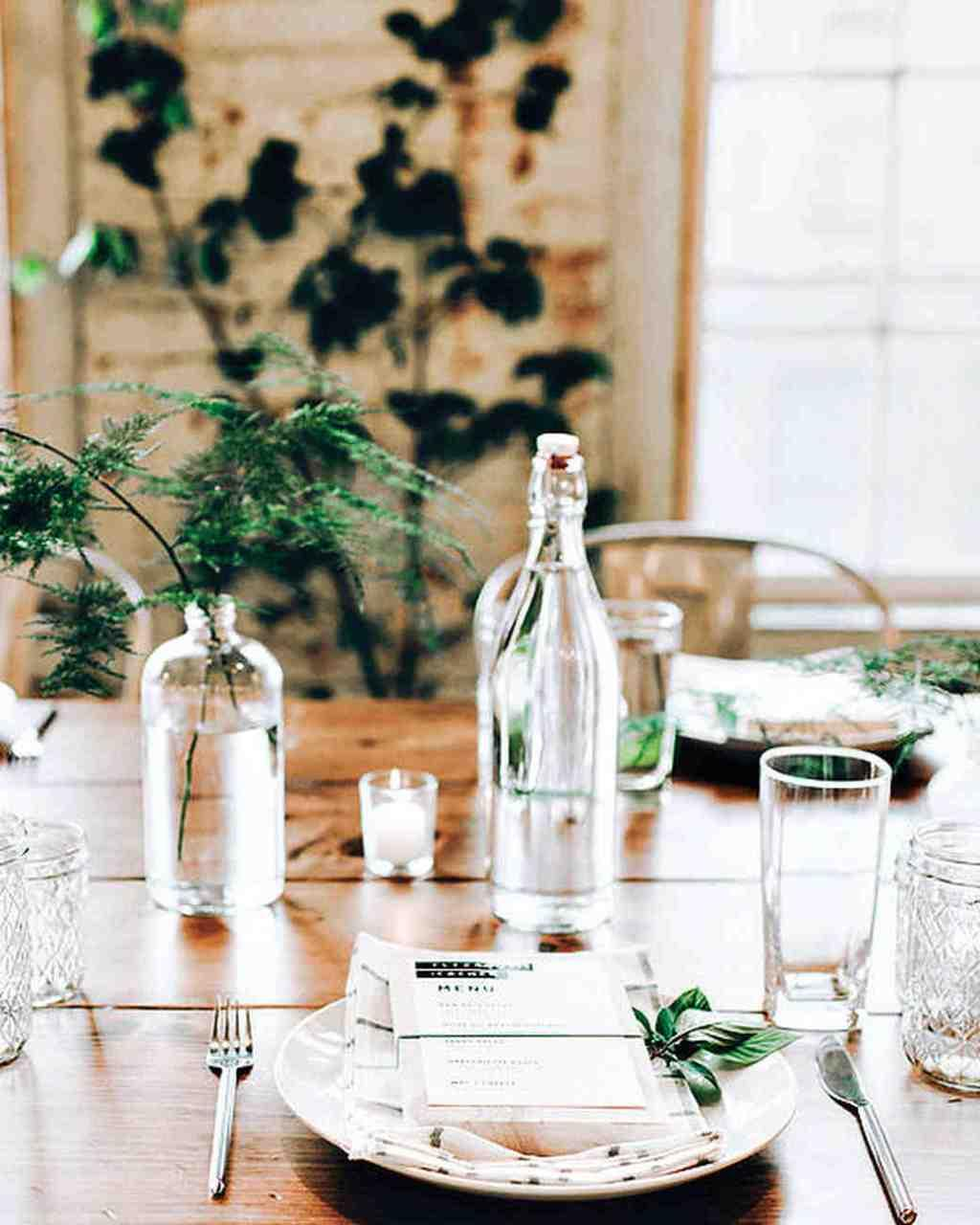 Table Top with Bottle: see beautiful ideas to decorate the table 26