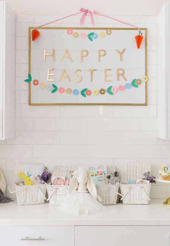 Special decorated bench for Easter
