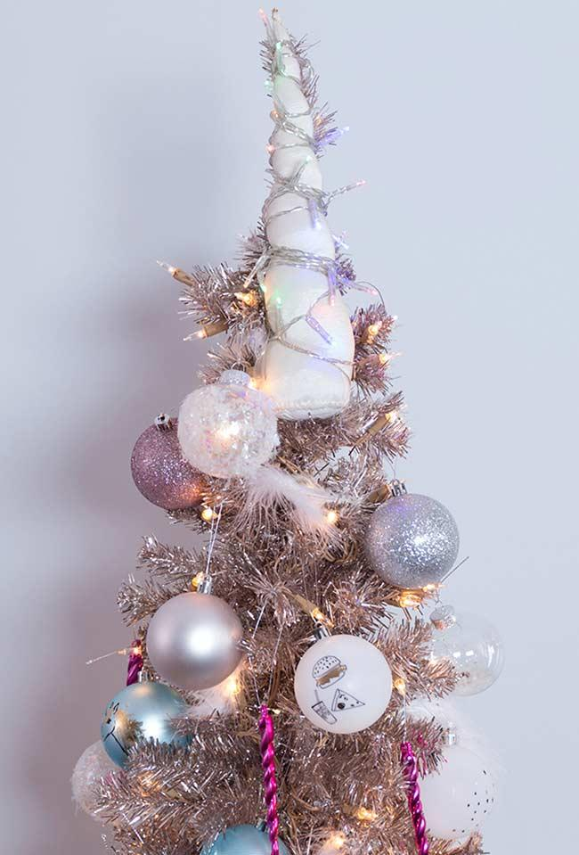 Magic tree decorated in unicorn style