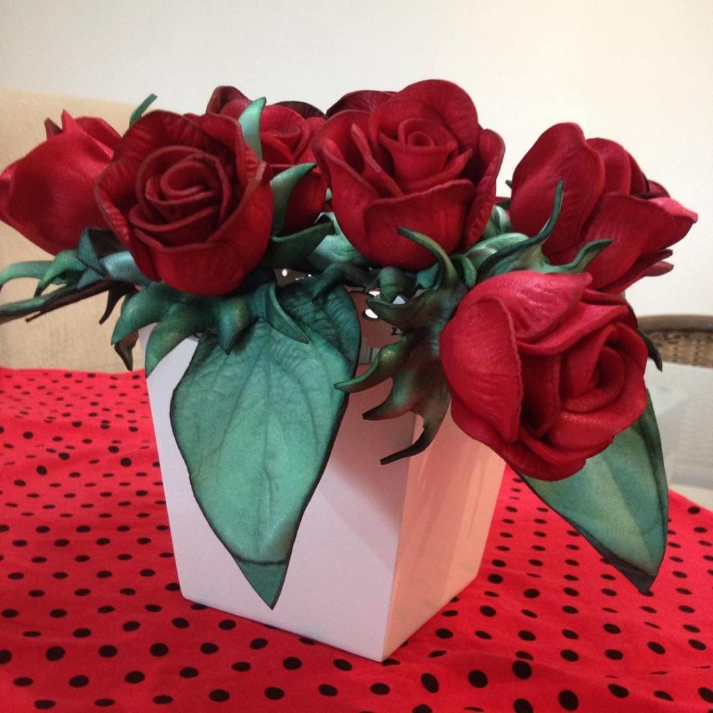 Flowers of EVA: 70 ideas, molds and step by step 22