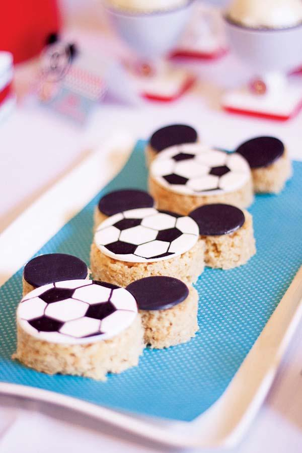 Simple party with soccer theme