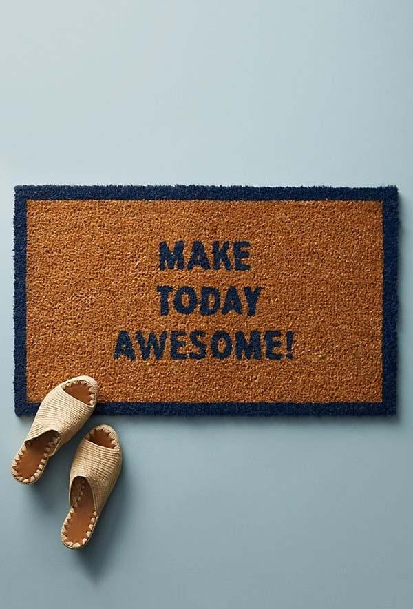 Fun doormats: welcome to brighten your home 35