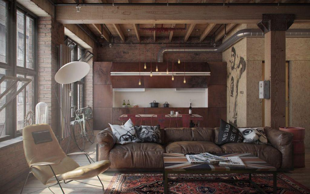 Leather sofa: 70 incredible models to decorate environments 44