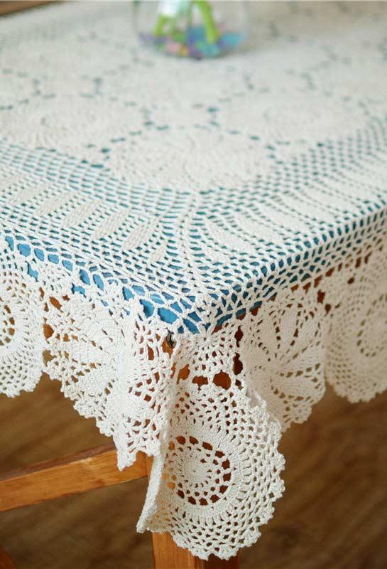 Crochet towel: ideas to add table decoration 8