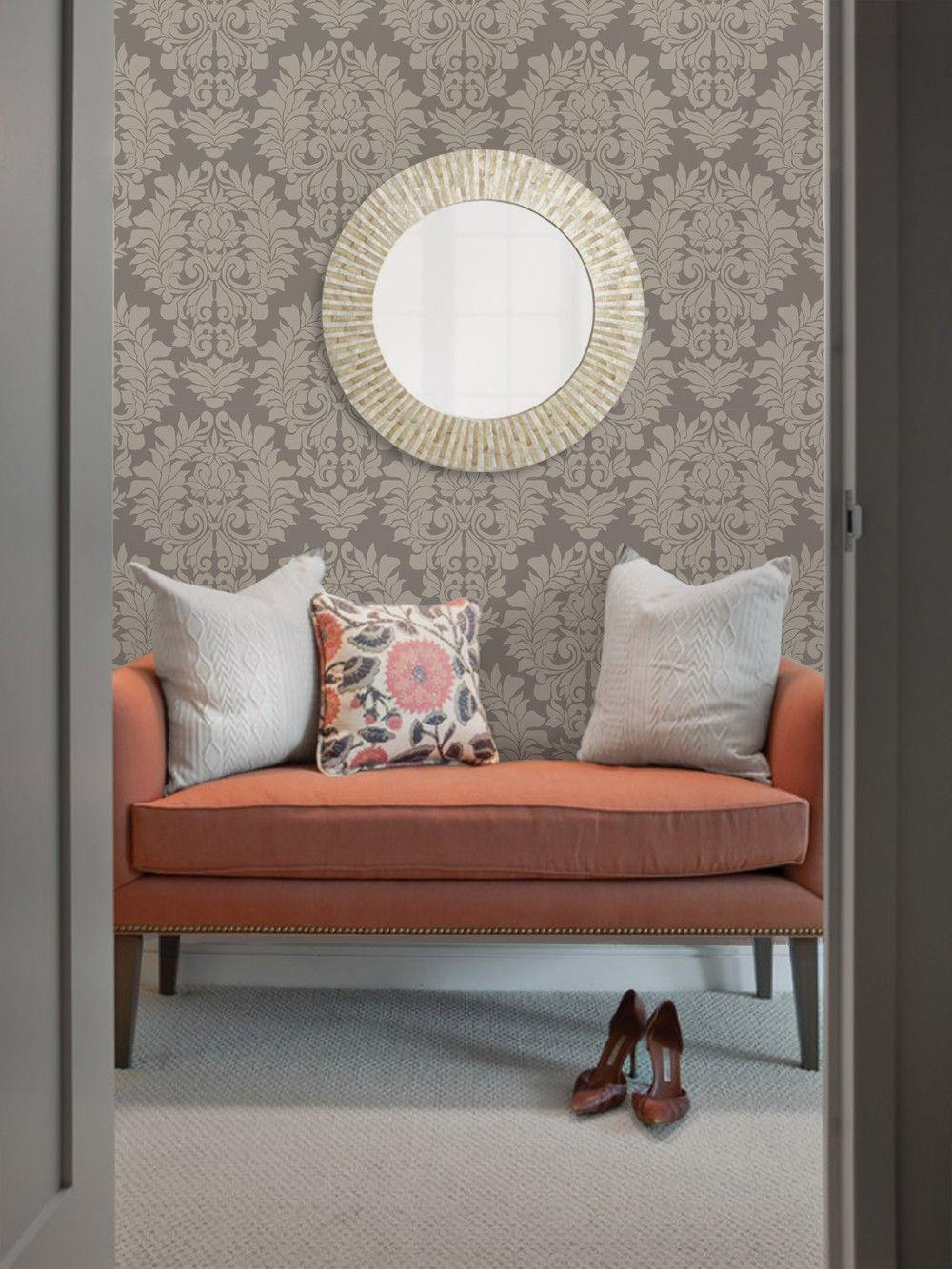 Wall fabric with arabesque