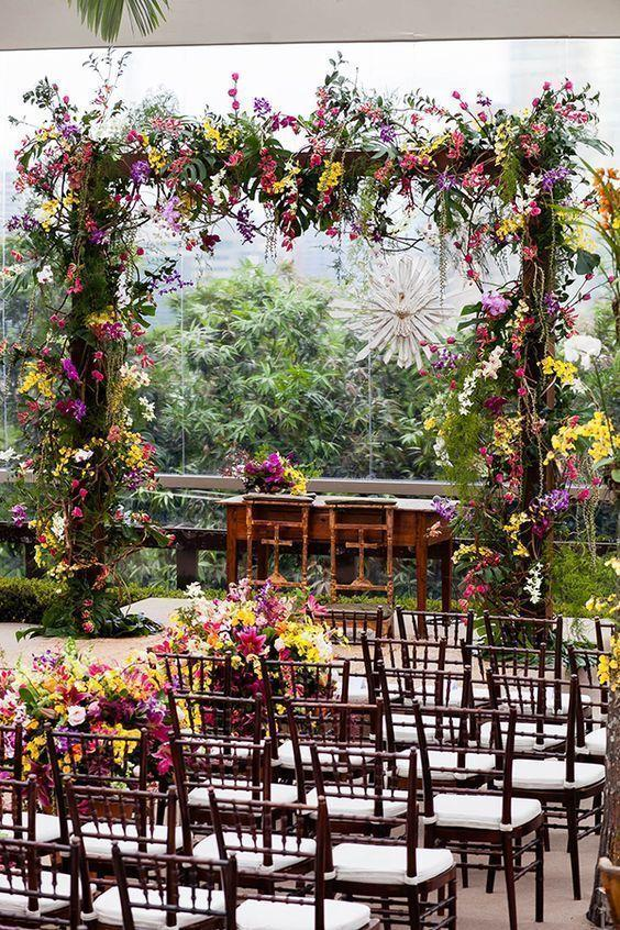 Wedding arrangements: 70 ideas for table, flowers and decoration 69