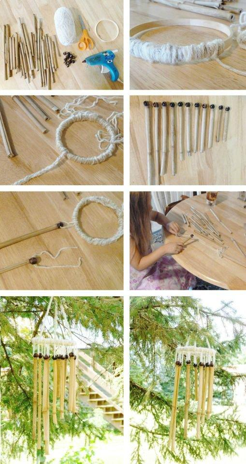 Bamboo Crafts: 60 models, photos and step by step DIY 61