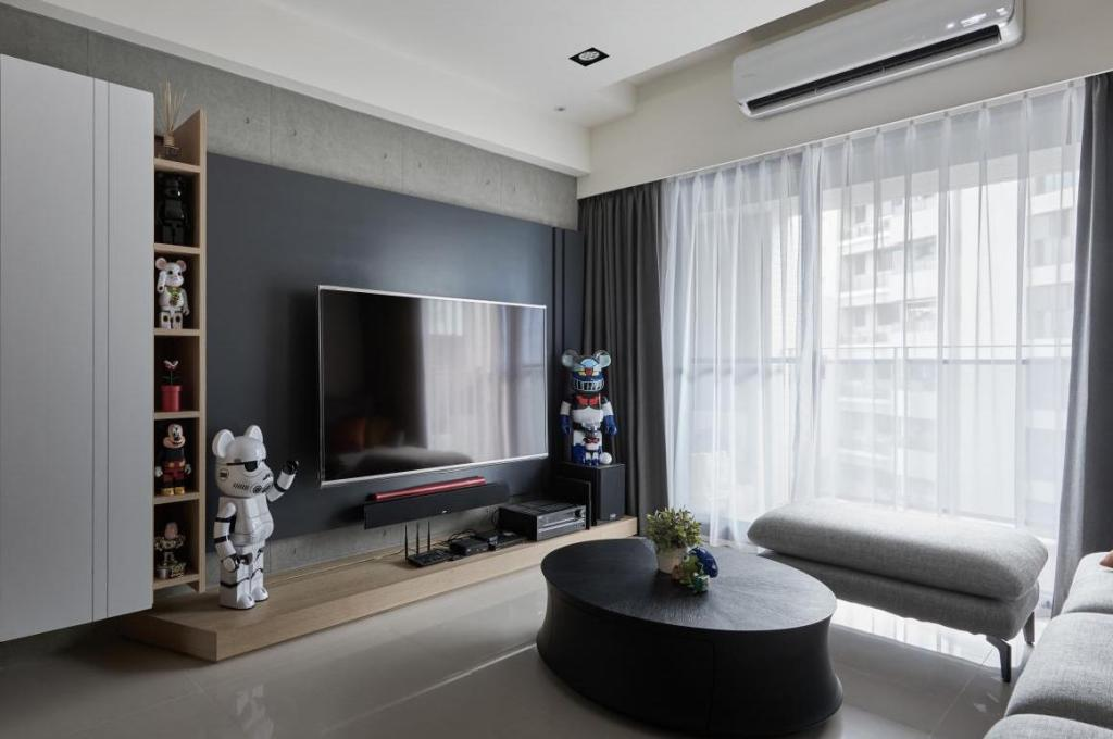Black white and gray in geek decoration