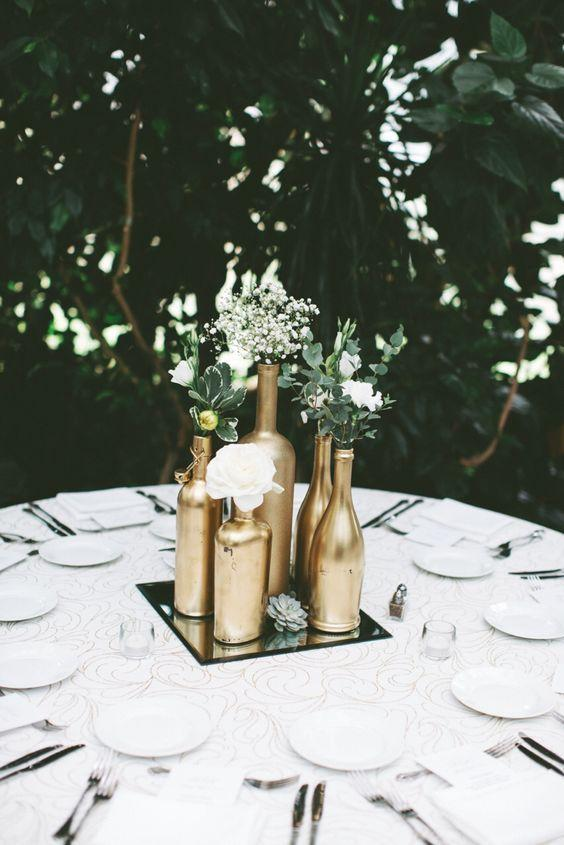 Table Top with Bottle: see beautiful ideas to decorate the table 33