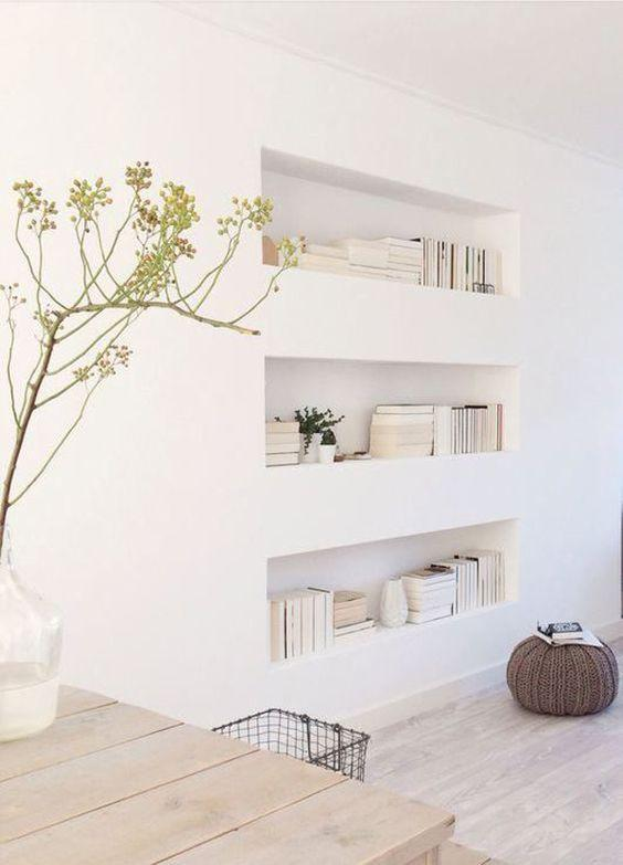 Plaster shelf: advantages and 60 projects to inspire 40