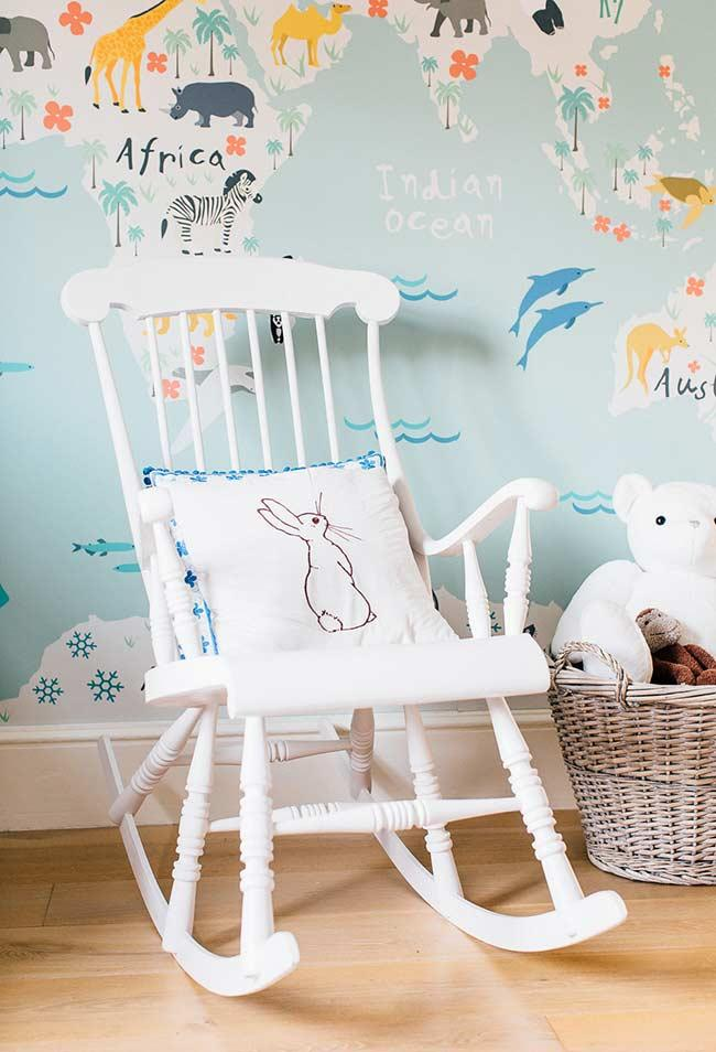 The classic wooden rocking chair