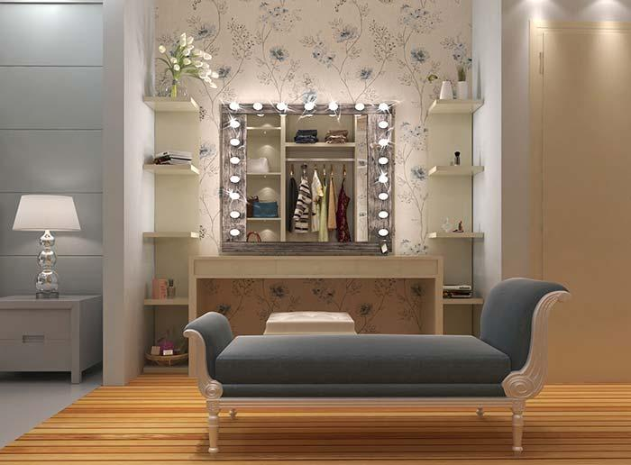 Dressing table dressing table with rustic frame