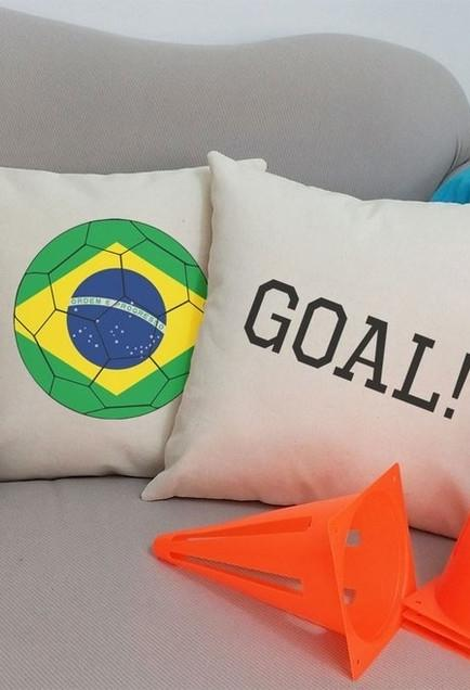 Cushion covers for the world cup decoration