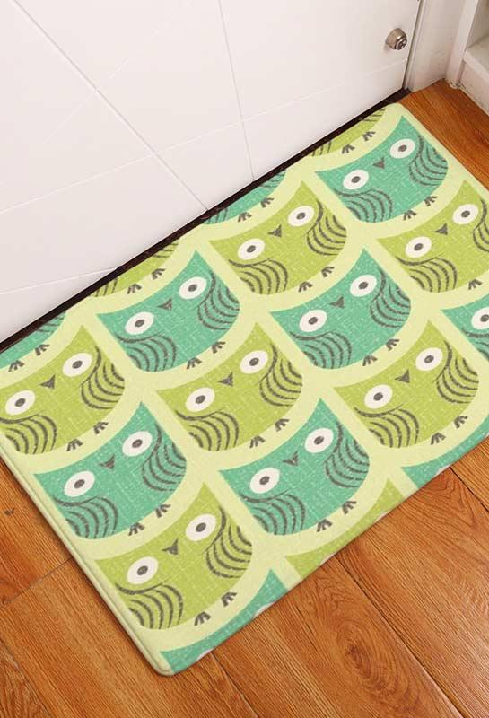 Doormat with owl pattern