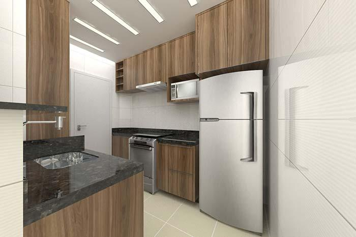 Kitchen planned with granite Verde Ubatuba