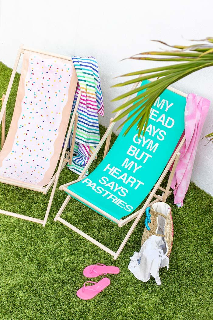 Fun fabrics for folding chairs