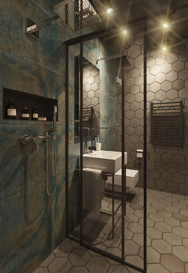 Sophisticated bathroom with modern decor