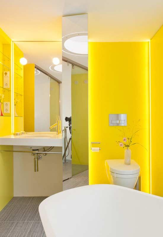Yellow with LED Ribbon Lighting