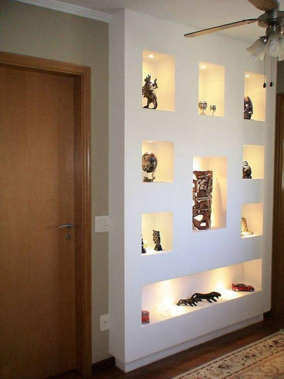 Plaster shelf: advantages and 60 projects to inspire 34