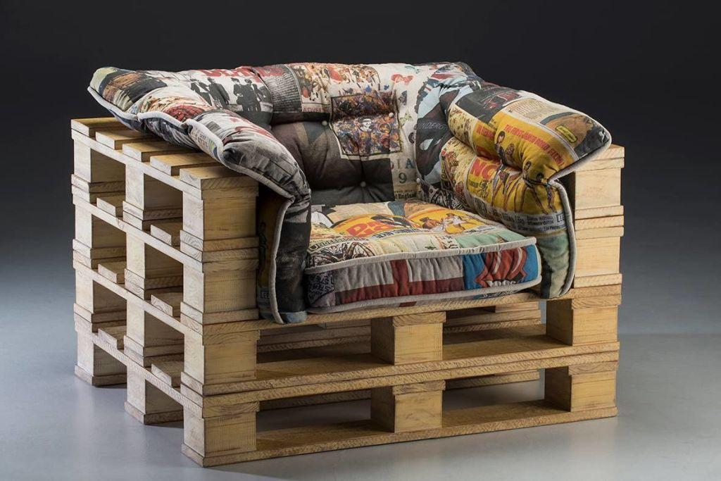 Futons in the pallet armchair