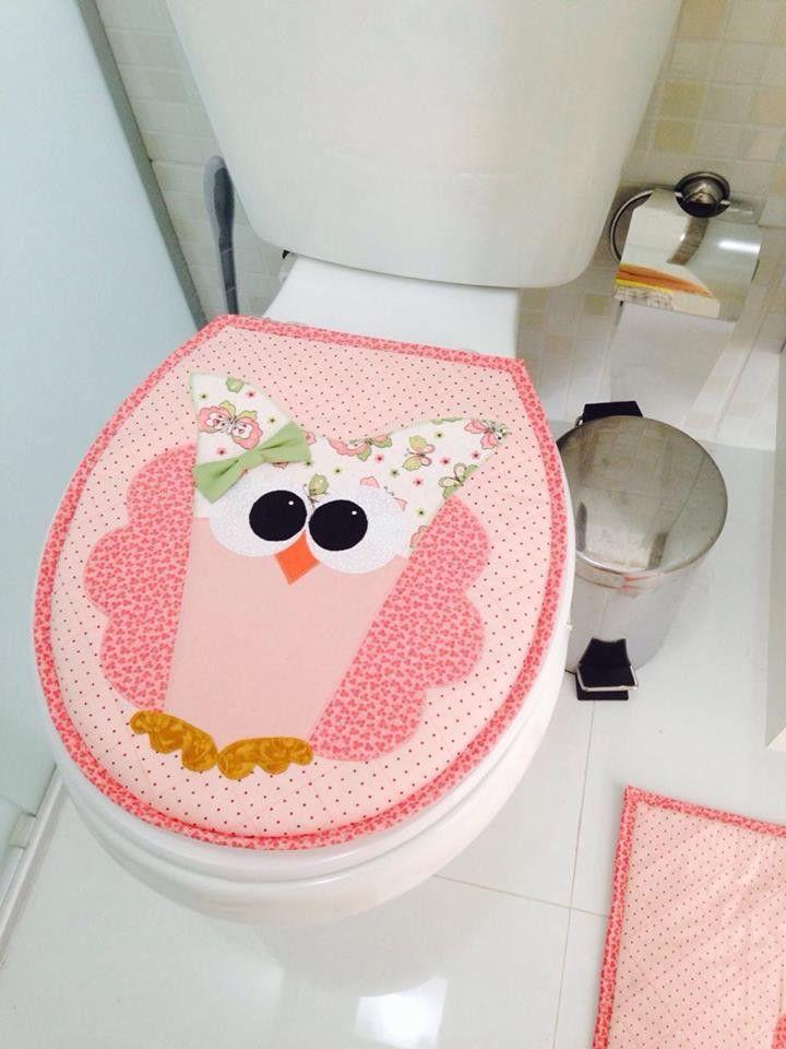 Patchwork owl for the bathroom