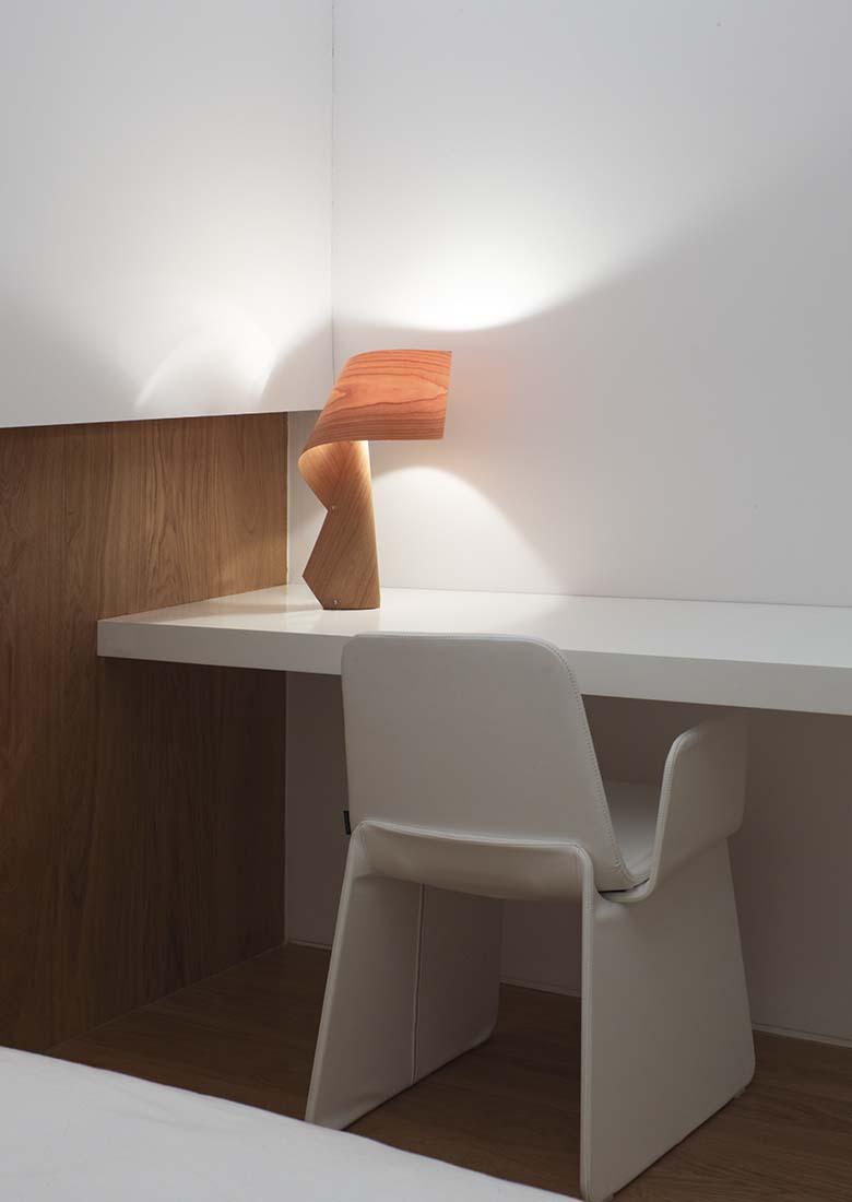 Elegant and soft wood luminaire