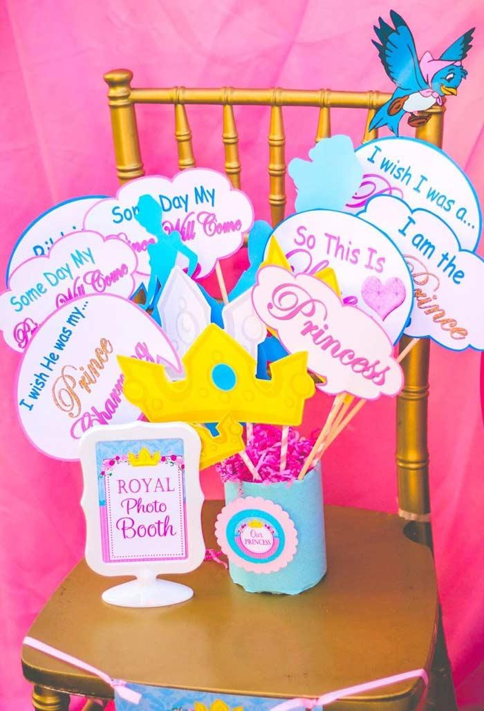 Party photo corner Princess with funny little plaques