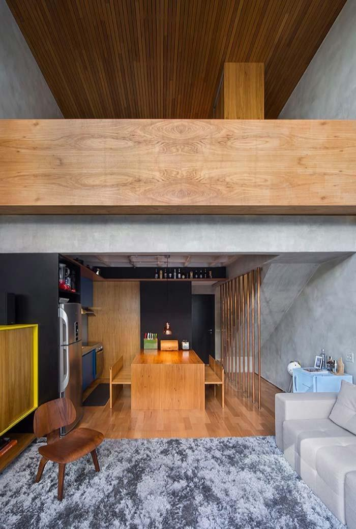 Wood lining with high ceilings