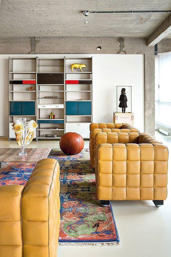 Leather sofa: 70 incredible models to decorate environments 14