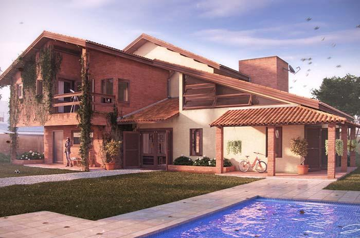 Rustic style house with ceramic tiles