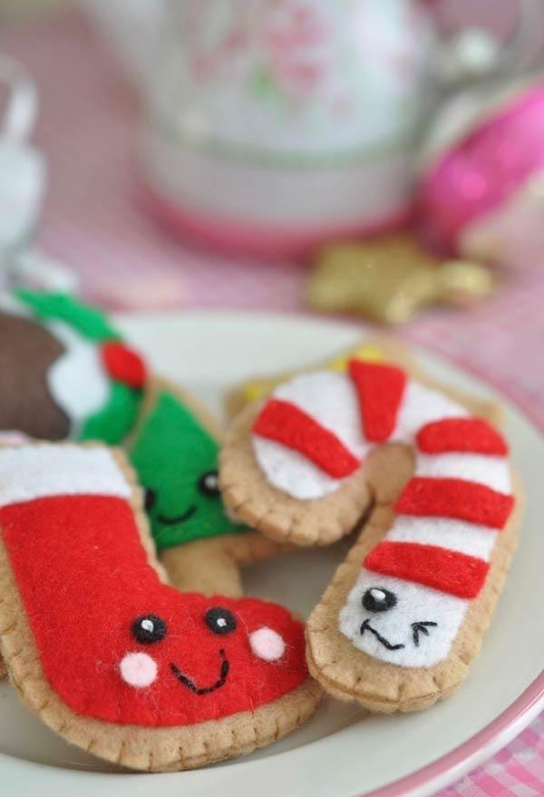 Felt fake gingerbreads