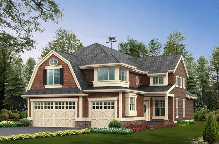 Large house with roof gambrel