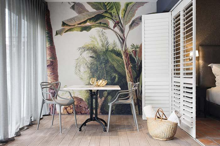 Tropical wallpaper for balcony