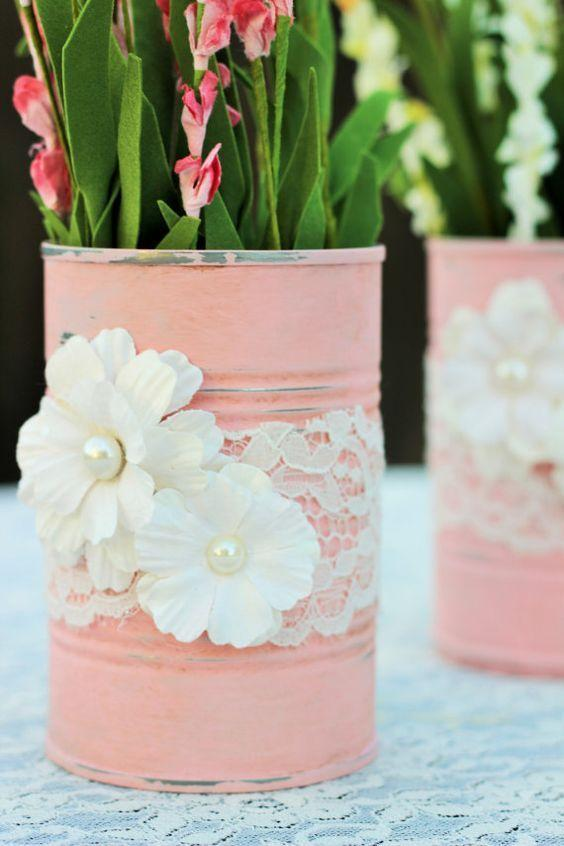 Cans decorated: 70 cool ideas to make at home 6