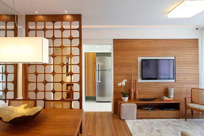 Exhaling wood on floors and details