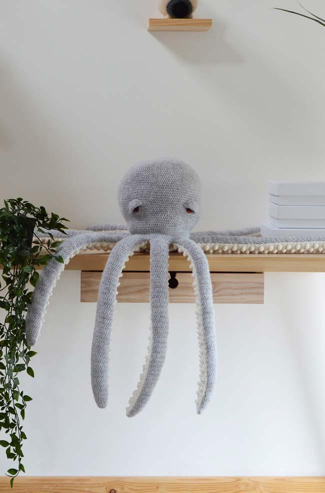 Sleeping Crochet Octopus