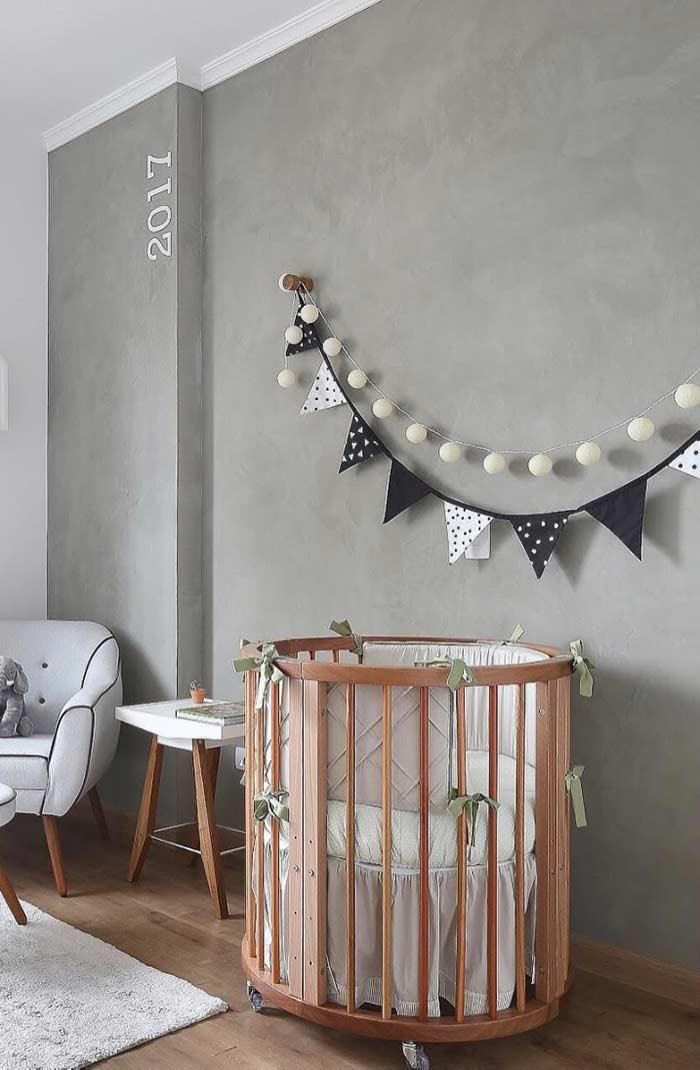 Baby room with burnt cement