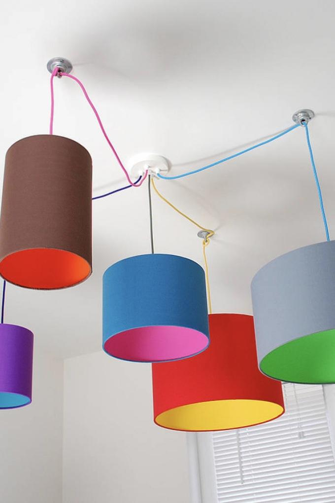Colored PVC luminaires